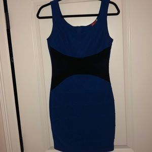 Black &Blue bodycon dress